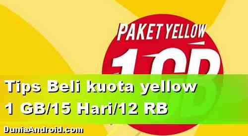 Cara Beli Paket data iM3 Yellow 1 GB 12 Ribu/15 Hari di Traveloka