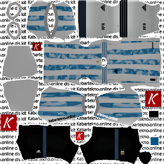 Argentina Home Kit Dream League Soccer 2021
