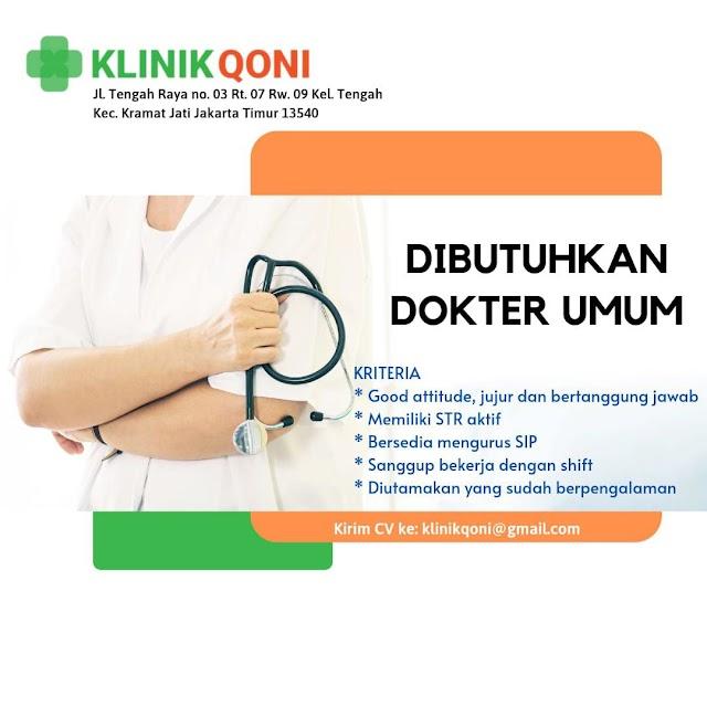 Loker Dokter KLINIK QONI Jakarta Timur