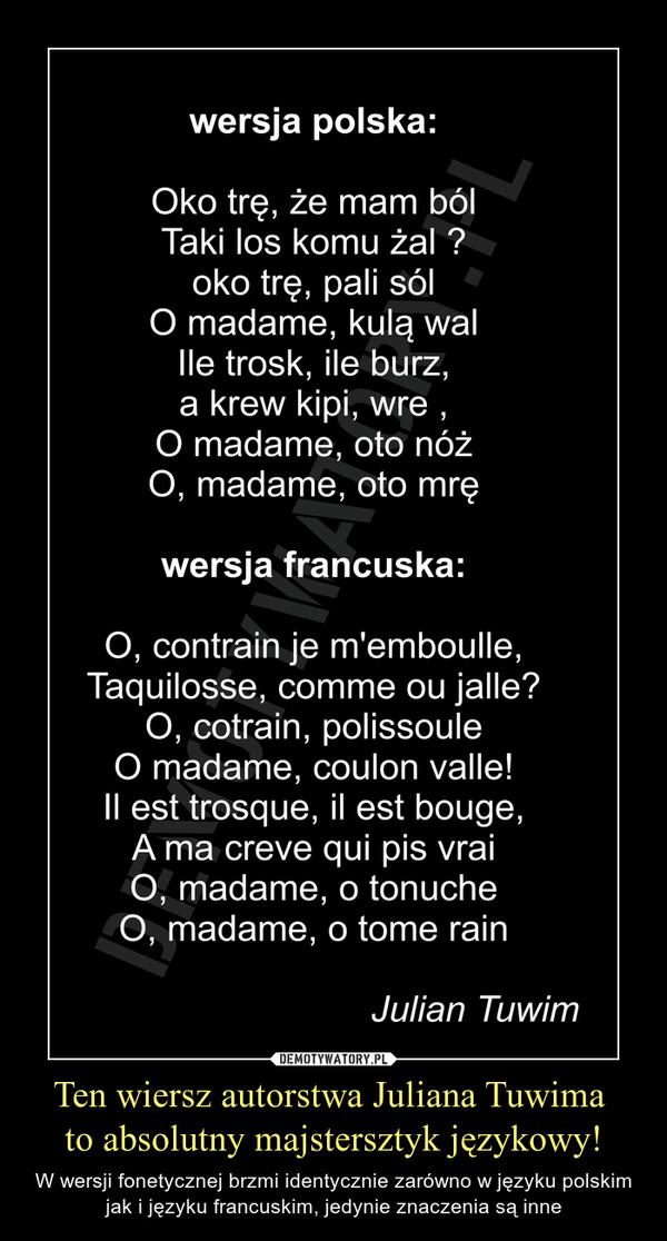 Blog O Francji Francuzach I Języku Francuskim Tuwimowski