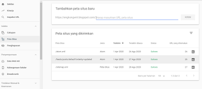 seting sitemap console