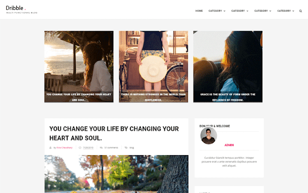 Dribble Free Blogger Template