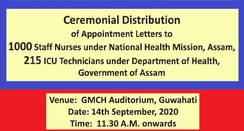 Appointment Letters to 1000 Nurse & 215 ICU Technician will be given today