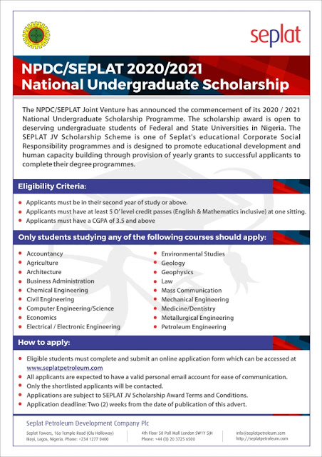 NPDC Scholarship
