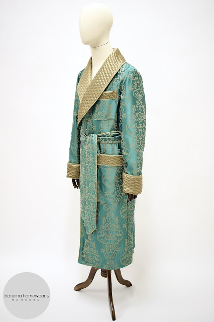 mens paisley silk jacquard robe quilted warm long dressing gown cotton satin luxury full length vintage housecoat gentleman
