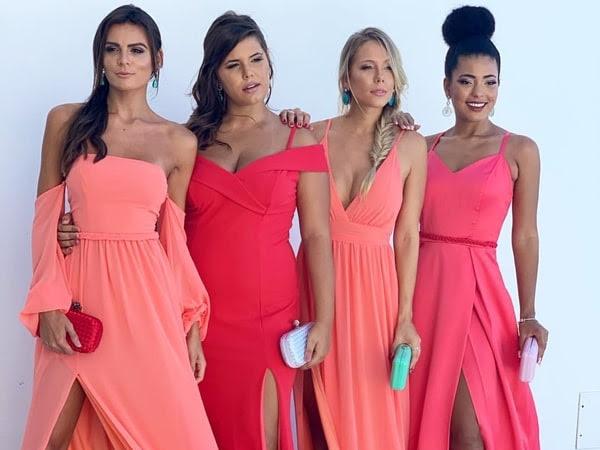 Vestido coral para madrinha 2019: fotos, modelos e tendências
