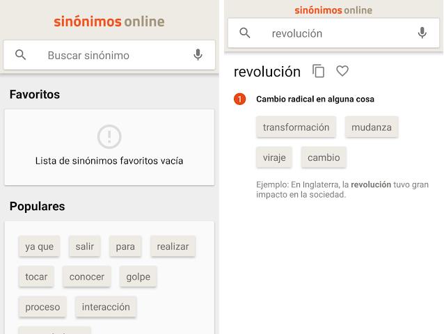 Diccionario Sinónimos Offline