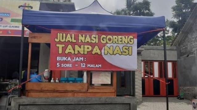 Viral Warung Jual Nasi Goreng Tanpa Nasi, Bikin Warganet Geleng-geleng