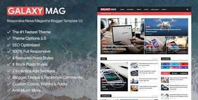 GalaxyMag v1.9 – Responsive News & Magazine Blogger Template
