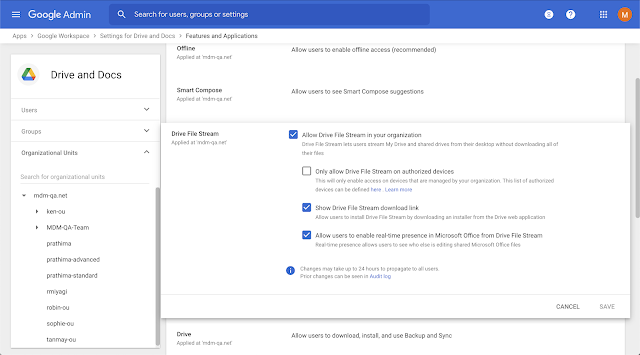 Restrict Google Drive for desktop to company owned devices 1