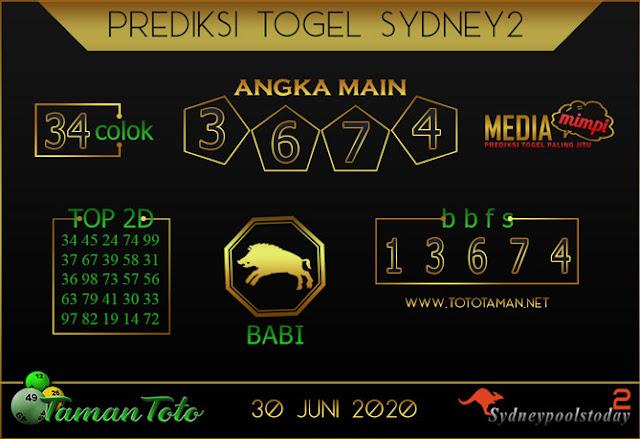 Prediksi Togel SYDNEY 2 TAMAN TOTO 30 JUNI 2020