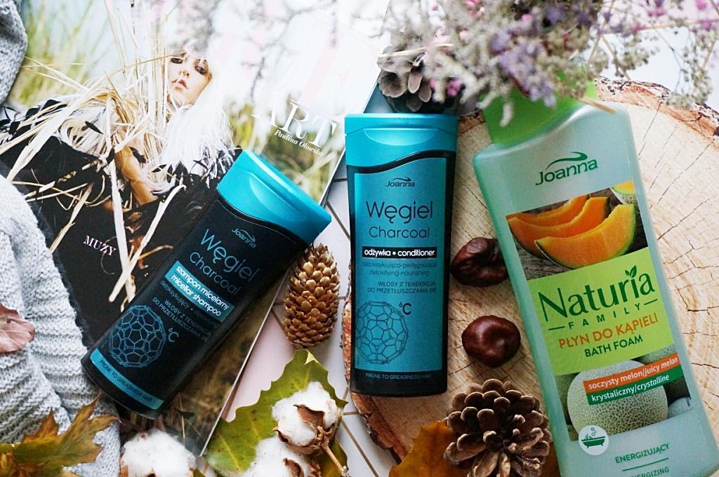 Joanna kosmetyki węglowe płyn do kąpieli Naturia Family