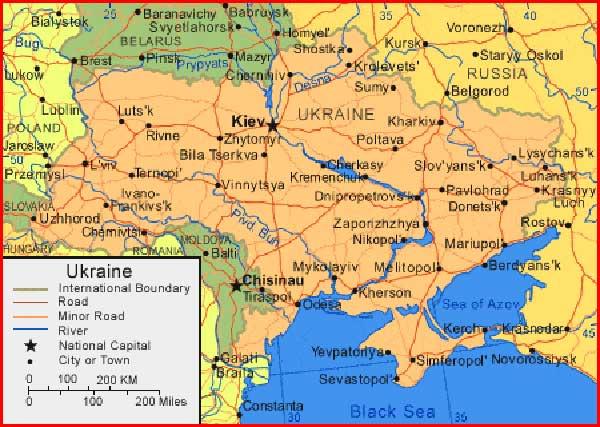 Gambar Peta Ukraina
