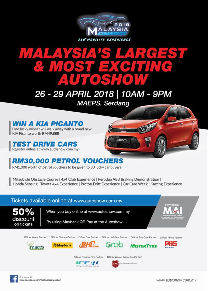 MotoringMalaysia Upcoming Events The Malaysia Autoshow At - Discount auto show tickets