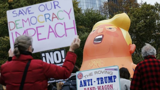 Crece en EEUU el apoyo para abrir juicio político contra Trump