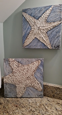 textured starfish paintings