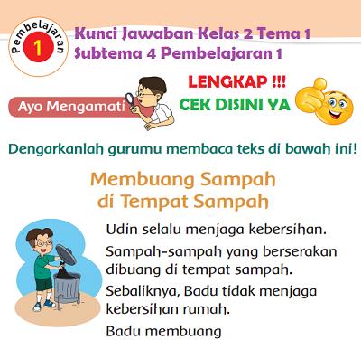 Kunci Jawaban Kelas 2 Tema 1 Subtema 4 Pembelajaran 1 www.simplenews.me