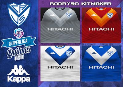 PES 6 Kits Vélez Sarsfield Season 2018/2019 by Rodry90 Kitmaker