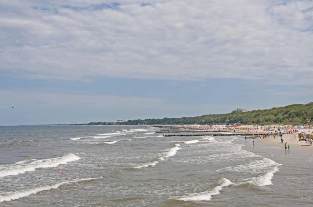 panorama nabrzeża w Kołobrzegu, punkt widokowy z mola
