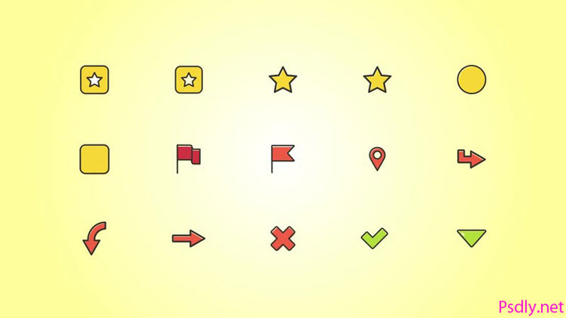MotionArray General Icons Pack 1 606303 Free Download