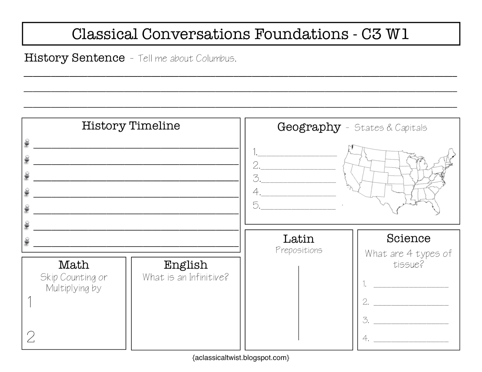 Homeschooling With A Classical Twist Cycle 3 Week 1