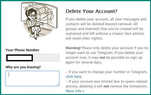 حذف حساب Telegram نهائيا 5