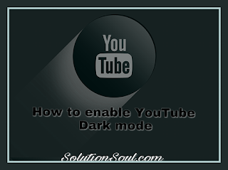 You tube dark mode feature