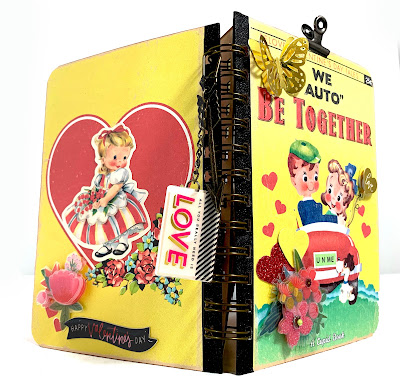 KB and Friends' Retro Valentine's Day Mini Album Front and Back Covers