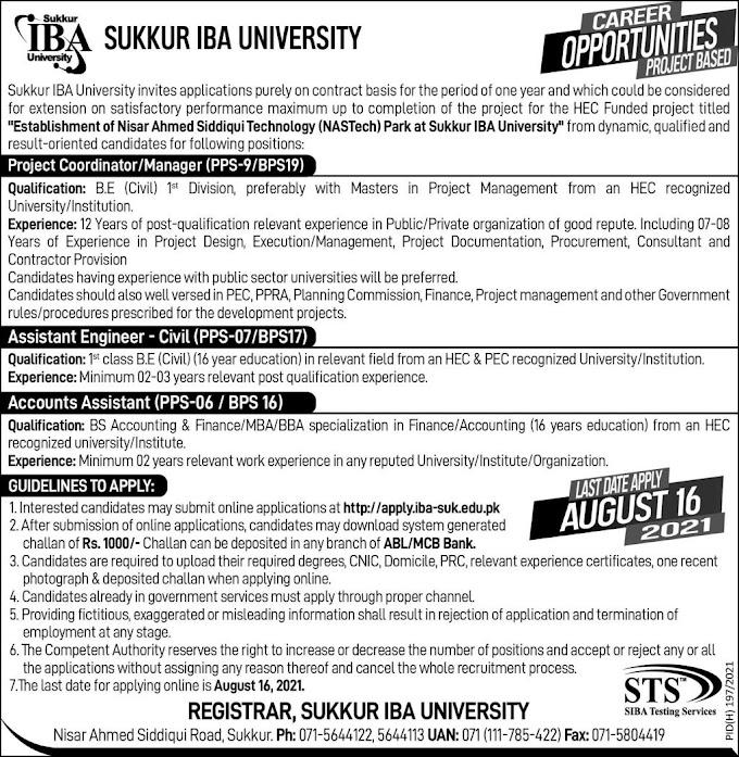 JOBS | Sukkur IBA University