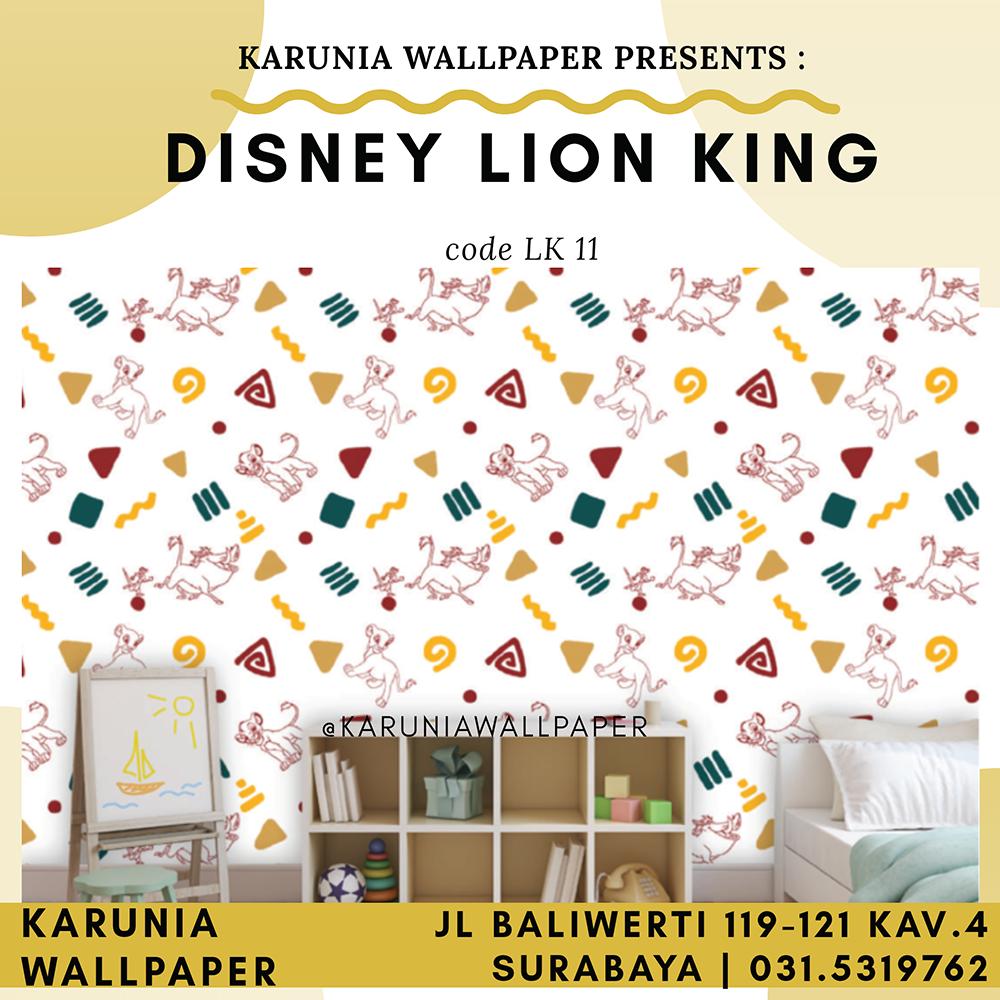 toko jual wallpaper dinding lion king murah