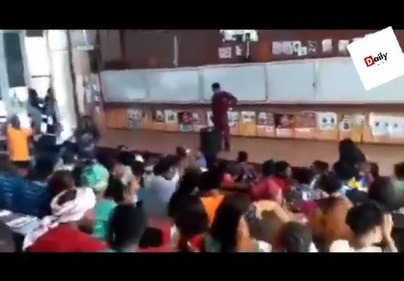 Lecturer Looks On As Students Scatter Class With 'Soapy' Song (Video)