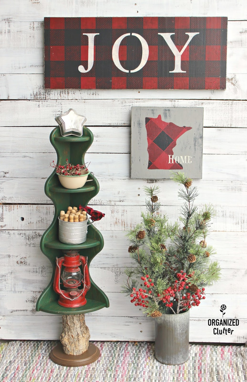 Wooden Corner Shelf Re Purposed As A Christmas Tree Organized Clutter