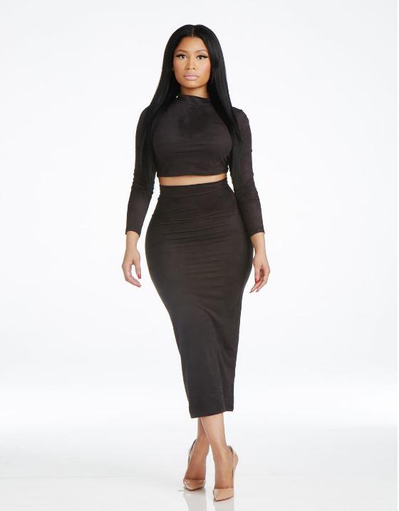 minaj nicki clothing she line bod shows display puts edu launches below cut lasgidi