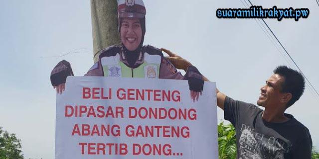 Beberapa Manekin Kocak Versi Polantas Aceh Utara untuk para pemukdik
