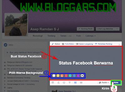 Status facebook warna di web
