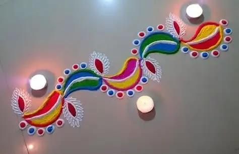 image of border rangoli for doors