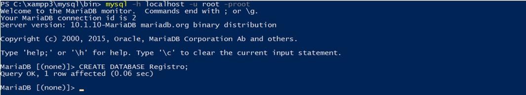 CRUD en Java Creación de la base de datos