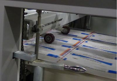 Trycksaker i en tryckpress