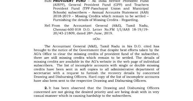 tnppgta com: GPF & TPF Missing Credit Correction Regarding - Order Copy