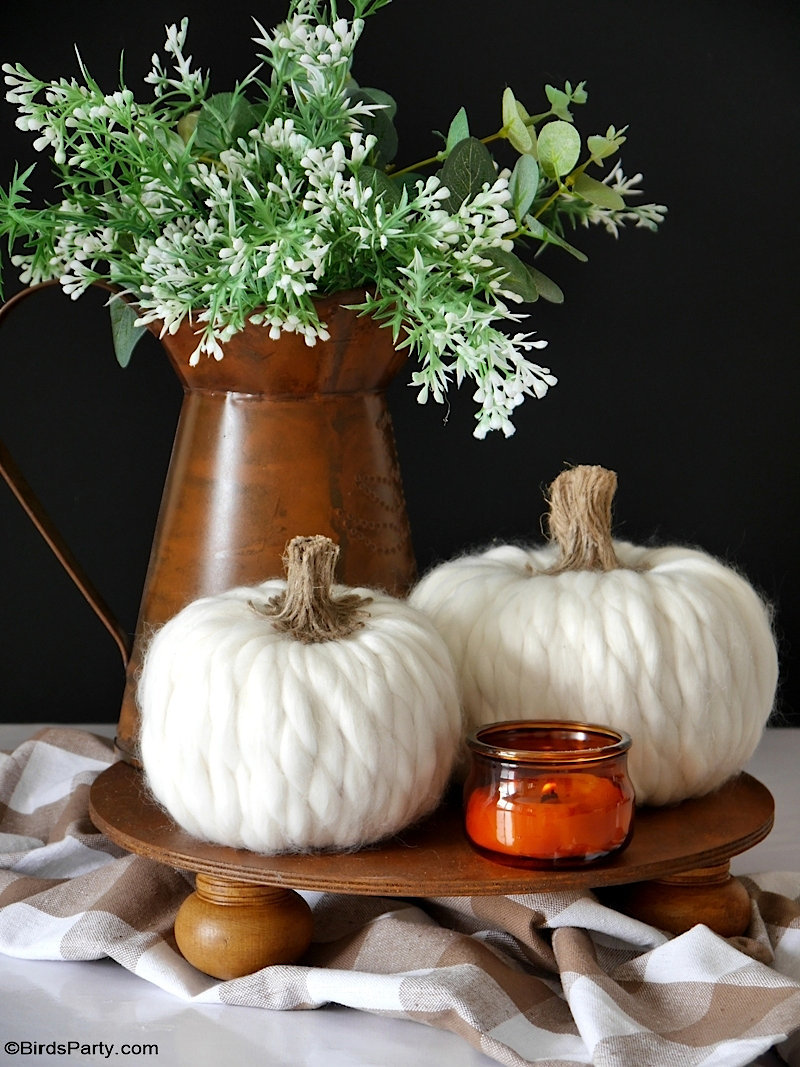 5 Décorations de Citrouilles DIY pour l'Automne - des décorations faciles pour transformer des citrouilles bon marché en un décor haut de gamme!