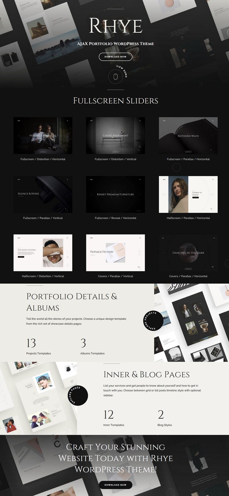 Premium AJAX Portfolio WordPress Theme