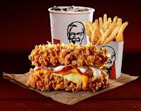 Harga KFC Zinger & Cheezilla Double Down 2021 combo