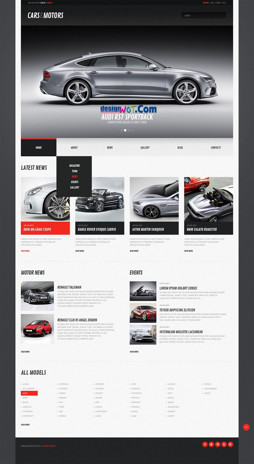 CARS MOTORS Responsive WordPress Theme