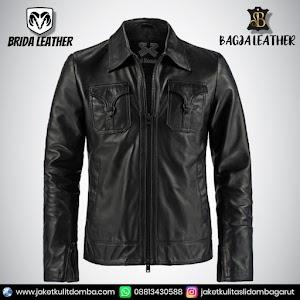 Jual Jaket Kulit Asli Garut Pria Domba Original Brida Leather B22   WA 08813430588