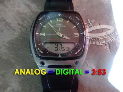 waktu analog telah sinkron dengan waktu digital