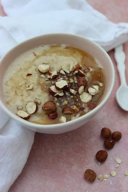 creamy hazelnut porridge