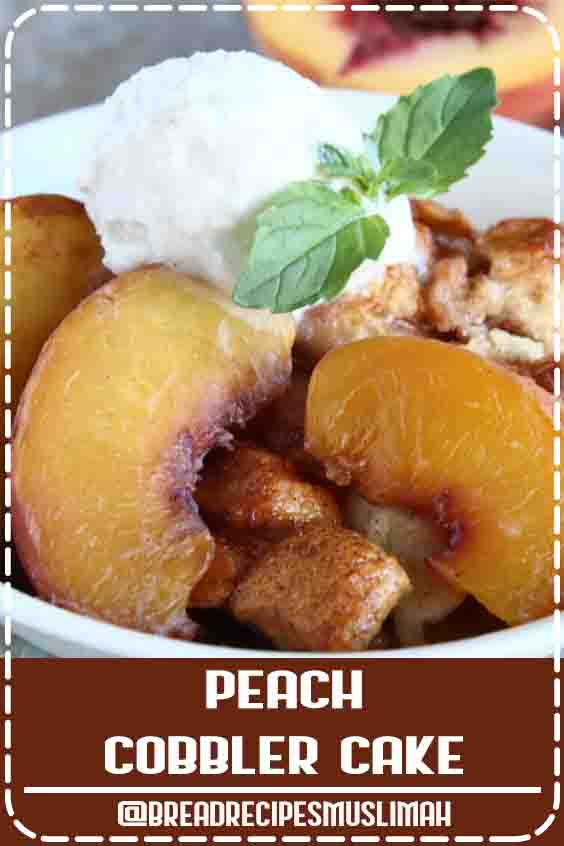 This Peach Cobbler Cake Is Where Your Taste Buds Need To Be #Fruit #Bread #Recipes #breakfast