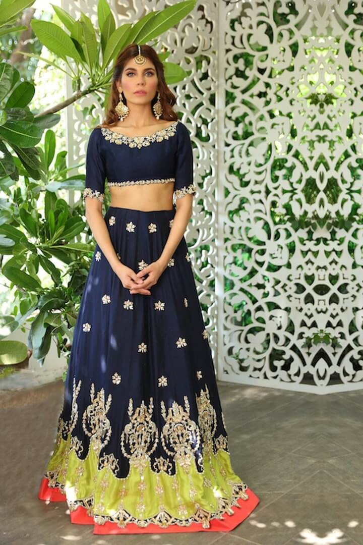 Beautiful stylish Pakistani bridal Mehndi dresses from Sophia collection
