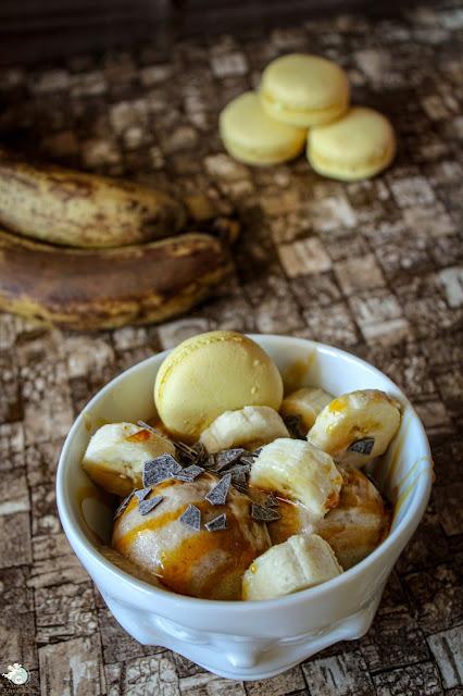 Bananeneis ohne Zucker und Ei