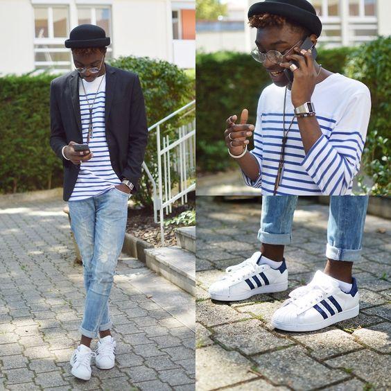 Look masculino com adidas superstar inverno